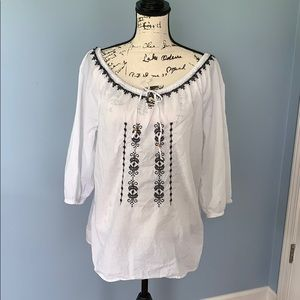 BANDOLINOBLU boho top LG white top